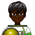 Man Astronaut: Dark Skin Tone on emojidex 1.0.34