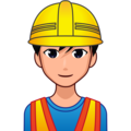 Man Construction Worker: Medium-Light Skin Tone on emojidex 1.0.34