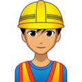 Man Construction Worker: Medium Skin Tone on emojidex 1.0.34