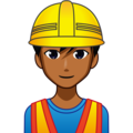 Man Construction Worker: Medium-Dark Skin Tone on emojidex 1.0.34