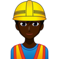 Man Construction Worker: Dark Skin Tone on emojidex 1.0.34