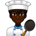 Man Cook: Dark Skin Tone on emojidex 1.0.34