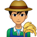 Man Farmer: Medium Skin Tone on emojidex 1.0.34