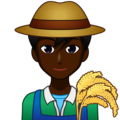 Man Farmer: Dark Skin Tone on emojidex 1.0.34