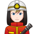 Man Firefighter: Light Skin Tone on emojidex 1.0.34