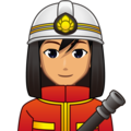 Man Firefighter: Medium Skin Tone on emojidex 1.0.34