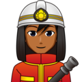 Man Firefighter: Medium-Dark Skin Tone on emojidex 1.0.34