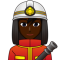 Man Firefighter: Dark Skin Tone on emojidex 1.0.34