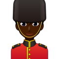 Man Guard: Dark Skin Tone on emojidex 1.0.34