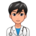 Man Health Worker: Medium-Light Skin Tone on emojidex 1.0.34
