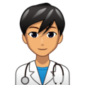 Man Health Worker: Medium Skin Tone on emojidex 1.0.34