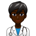 Man Health Worker: Dark Skin Tone on emojidex 1.0.34