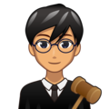 Man Judge: Medium Skin Tone on emojidex 1.0.34