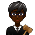 Man Judge: Dark Skin Tone on emojidex 1.0.34