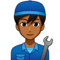 Man Mechanic: Medium-Dark Skin Tone on emojidex 1.0.34
