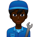 Man Mechanic: Dark Skin Tone on emojidex 1.0.34
