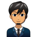 Man Office Worker: Medium Skin Tone on emojidex 1.0.34