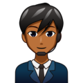 Man Office Worker: Medium-Dark Skin Tone on emojidex 1.0.34