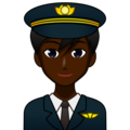 Man Pilot: Dark Skin Tone on emojidex 1.0.34