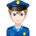 Man Police Officer: Light Skin Tone on emojidex 1.0.34