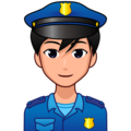 Man Police Officer: Medium-Light Skin Tone on emojidex 1.0.34