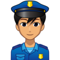 Man Police Officer: Medium Skin Tone on emojidex 1.0.34