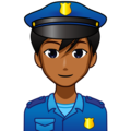 Man Police Officer: Medium-Dark Skin Tone on emojidex 1.0.34