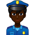 Man Police Officer: Dark Skin Tone on emojidex 1.0.34