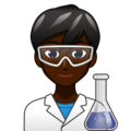 Man Scientist: Dark Skin Tone on emojidex 1.0.34