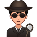 Man Detective: Medium-Light Skin Tone on emojidex 1.0.34