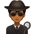 Man Detective: Medium-Dark Skin Tone on emojidex 1.0.34