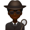 Man Detective: Dark Skin Tone on emojidex 1.0.34