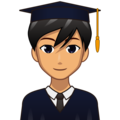 Man Student: Medium Skin Tone on emojidex 1.0.34