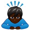 Man Bowing: Dark Skin Tone on emojidex 1.0.34
