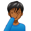 Man Facepalming: Medium-Dark Skin Tone on emojidex 1.0.34
