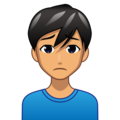 Man Frowning: Medium Skin Tone on emojidex 1.0.34