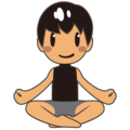 Man in Lotus Position: Medium Skin Tone on emojidex 1.0.34