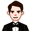 Man in Tuxedo: Light Skin Tone on emojidex 1.0.34