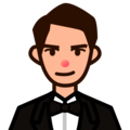 Person in Tuxedo: Medium-Light Skin Tone on emojidex 1.0.34