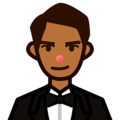 Person in Tuxedo: Medium-Dark Skin Tone on emojidex 1.0.34