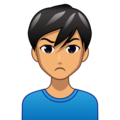 Man Pouting: Medium Skin Tone on emojidex 1.0.34