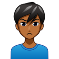Man Pouting: Medium-Dark Skin Tone on emojidex 1.0.34