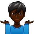 Man Shrugging: Dark Skin Tone on emojidex 1.0.34