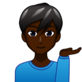 Man Tipping Hand: Dark Skin Tone on emojidex 1.0.34