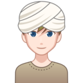 Man Wearing Turban: Light Skin Tone on emojidex 1.0.34
