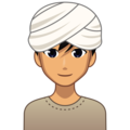 Man Wearing Turban: Medium Skin Tone on emojidex 1.0.34