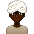 Man Wearing Turban: Dark Skin Tone on emojidex 1.0.34