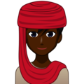 Man With Headscarf: Dark Skin Tone on emojidex 1.0.34