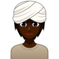Person Wearing Turban: Dark Skin Tone on emojidex 1.0.34