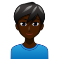 Man: Dark Skin Tone on emojidex 1.0.34